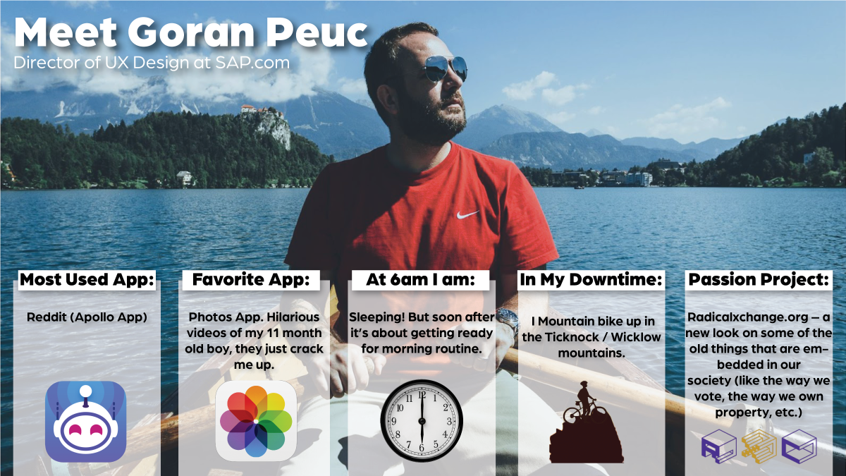 Life of a Marketer - Goran Peuc, UX Design Director SAP