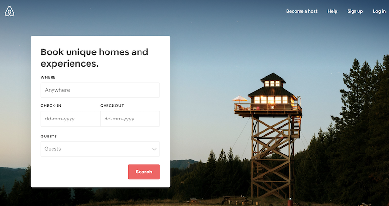 AirBnb, a good User experience website